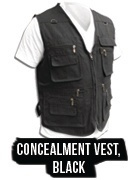 Concealed Carry Concealment Vest Black