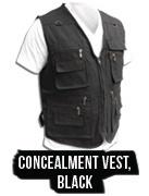 Concealed Carry Concealment Vest Black